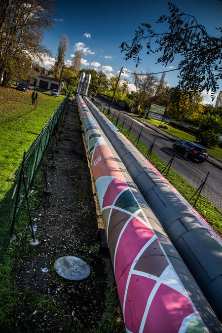 Távhővezeték, amelyet jó nézegetni! (Fotó: Farkas András)