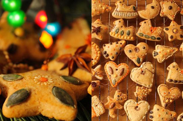 Karácsonyi mézeskalácsdísz: natúr dekoráció (Fotó: Vidra)