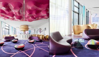 Zenével és Karim Rashid világával átszőtt hotel