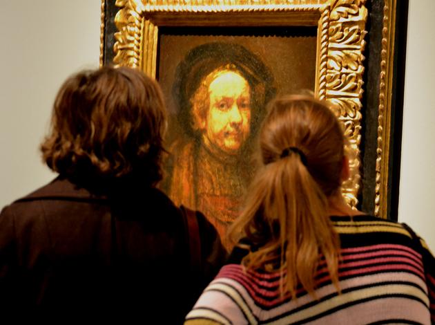 Rembrandt 1669-ben készült önarcképe a firenzei Uffiziből