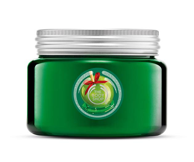 """Cukormázas alma fürdőzselé. Én érzek benne egy kis retro """"zöldalmás"""" hangulatot is, de főként egy cukorkaboltra emlékeztet. Az állaga pedig zseniális./The Body Shop"""