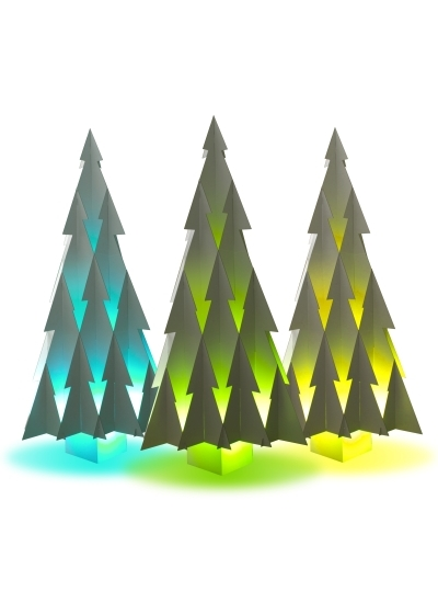 Extra változat, ha színes ledlámpákkal világítják meg.