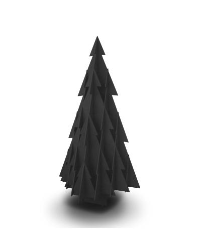 Táblafestékkel feketére festett karácsonyfa