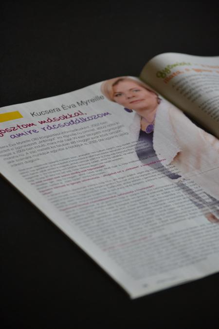 Interjú a 16. oldalon. Tény: a betűk slankítanak.