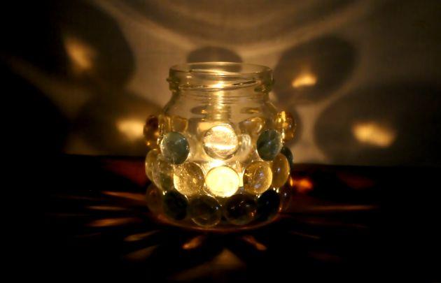 Téli fényszóró a spájzból: üveglencse üvegen (Ötlet és fotó: Vidra)