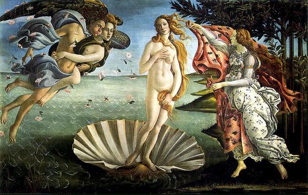 Botticelli: Vénusz születése