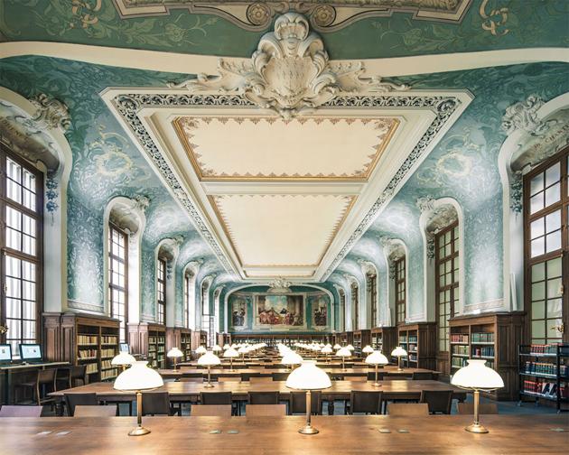 Bibliothèque interuniversitaire de la Sorbonnee, Paris, France (Fotó: Franck Bohbot)