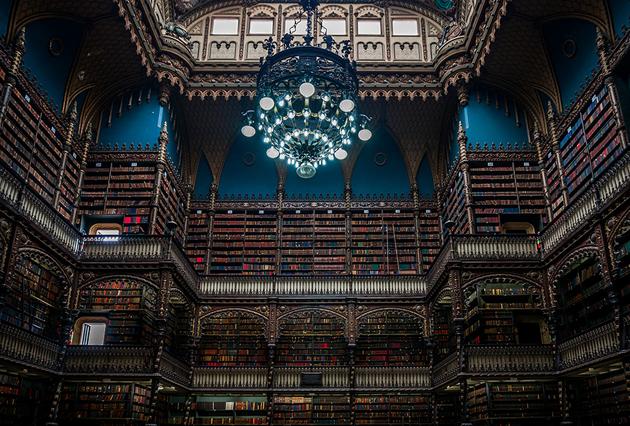 Biblioteca Real Gabinete Portugues De Leitura, Rio De Janeiro, Brazil (Fotó: Borsi G.)