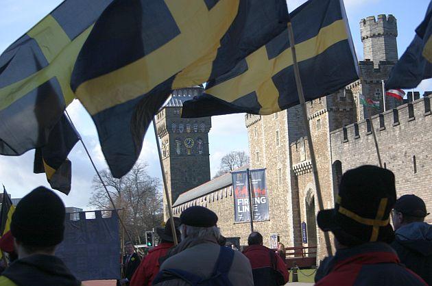 Ez Szt. Dávid zászlaja (Fotó: Vidra)