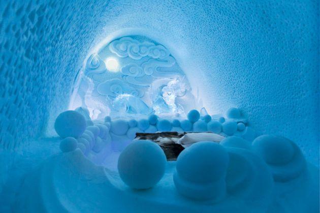 Kimunkáltan jégsárkányos enteriőr