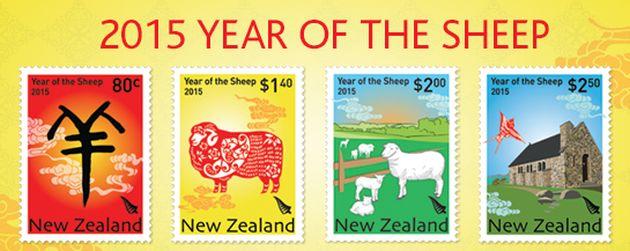 A juhokban gazdag ország bélyegein idén bizony minden csupa birka