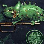 Mechanikus állatok fém alkatrészekből