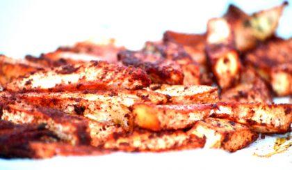 Zellerhasábok tandoori masala fűszerkéregben