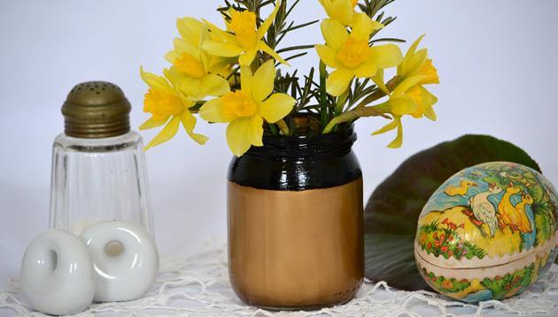 Befőttes üvegből design váza/Ötlet és fotó: Myreille