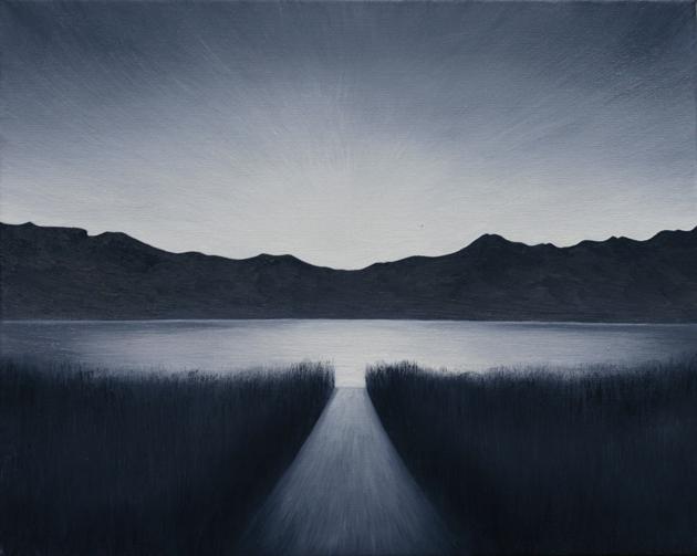 Kollár Andrea: Merülés, olaj, vászon, 24x30cm, 2014
