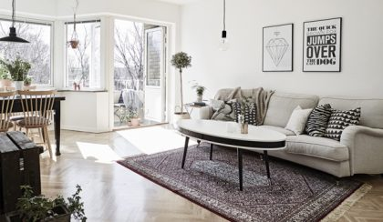 54 négyzetméter: tipp-topp lakás skandináv stílusban