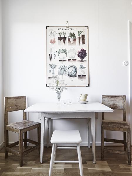 """Ez még mindig a konyha és a """"kávézó"""" sarokban a régi kap főszerepet.(Fotó: stadshem.se)"""