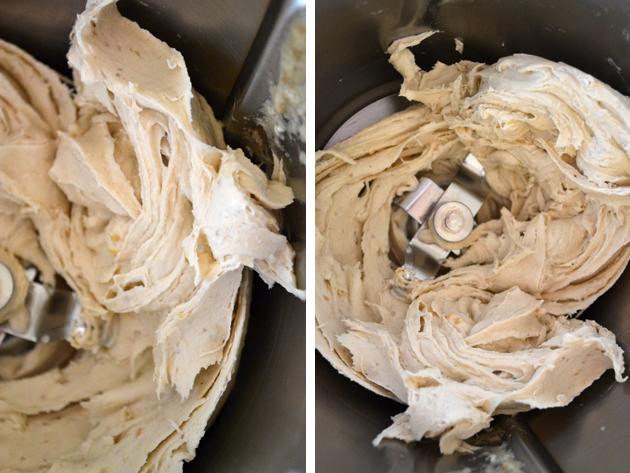 Banánfagyi: nincs benne tej, nincs benne cukor, csak a fagyasztott banán rendesen összedarálva és a végeredmény ilyen krémes. (Fotó: Myreille)