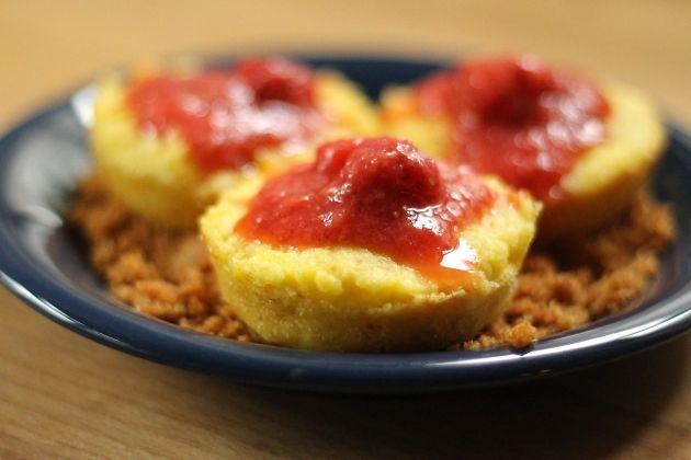 Túró gombóc muffin formában/Fotó: Vidra