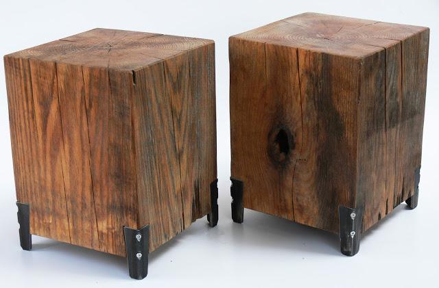A látszó csavarok és a fa erezete remek, modern összhangot alkot. /Design és fotó: Nyilas Kálmán