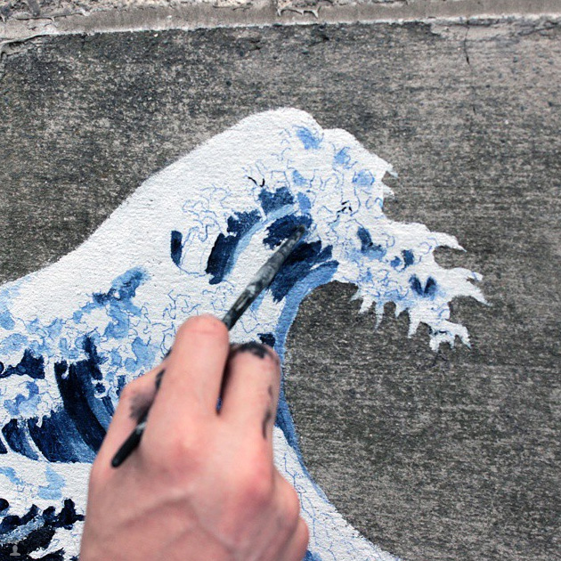 Pejac: Everyone is an artist, Japán, 2015, Fotó: Pejac