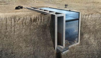 Komplett tengerparti házat rejtettek a medence alá