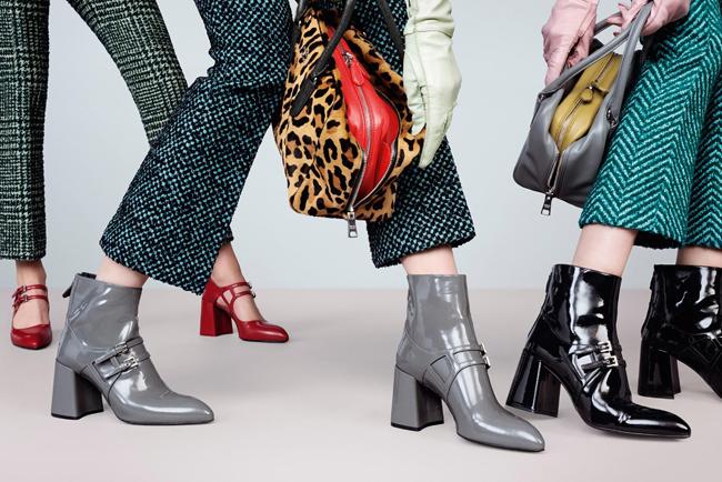 Ezek már-már hétköznapi cipők, de a sarkukat lehetetlen megbocsátani. - Prada FW 2015