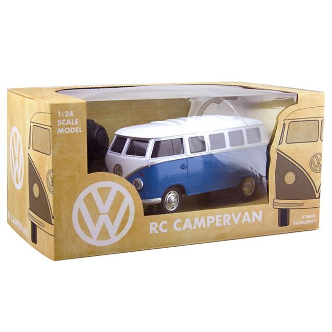 Távirányítós VW kisbusz. A doboz matricákat is tartalmaz, amivel pimpelhető a járgány. Azt már megbeszéltük, hogy karácsonyra távirányítós autót kapnak a gyerekek és az is nagyon valószínű, hogy nem ilyet, de azért ez egy nagyon menő járgány. - design-3000.de, 29,90 euro