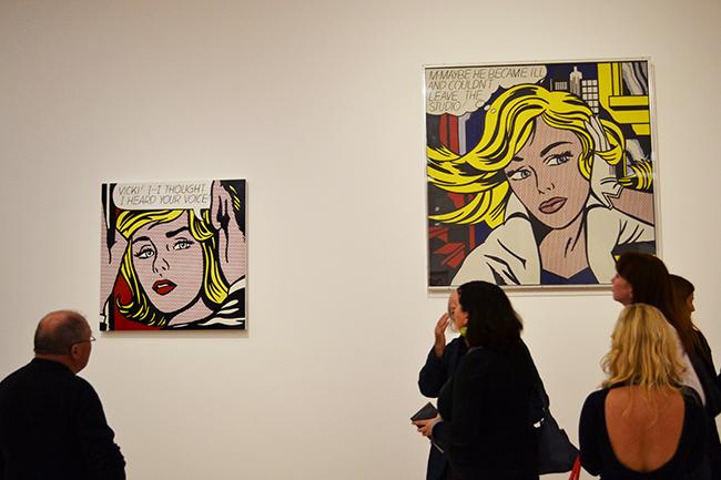 Roy Lichtenstein egyik leghíresebb képe a Ludwig Múzeumban, Budapest, 2015 - Fotó: Myreille