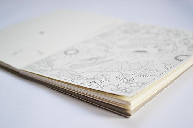 Szárnyalhat a fantázia, kophat a színes ceruza. - Johanna Basford: Titkos kert - Képeslapkönyv 20 kivehető képeslappal (Fotó: Myreille)