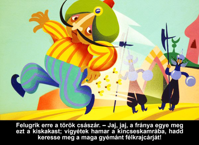 A kiskakas gyémánt félkrajcárja diafilm: Arany László meséjét Richly Zsolt illusztrálta.