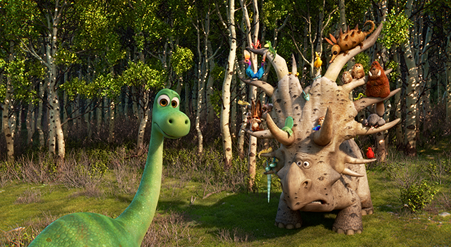 THE GOOD DINOSAUR - Pictured (L-R): Arlo and Pet Collector. ?2015 Disney?Pixar. All Rights Reserved.