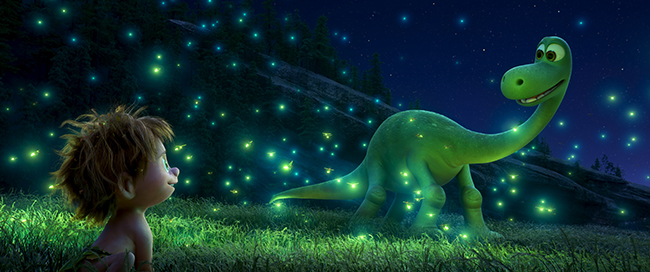 THE GOOD DINOSAUR ? SEEING THE LIGHT ? An Apatosaurus named Arlo makes an unlikely human friend in Disney?Pixar?s ?The Good Dinosaur.? Directed by Peter Sohn, ?The Good Dinosaur? opens in theaters nationwide Nov. 25, 2015. ?2015 Disney?Pixar. All Rights Reserved.