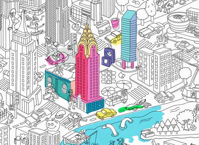 New York közelről és színesen is jó, de az OMY poszterek fekete-fehéren is szórakoztatóak.