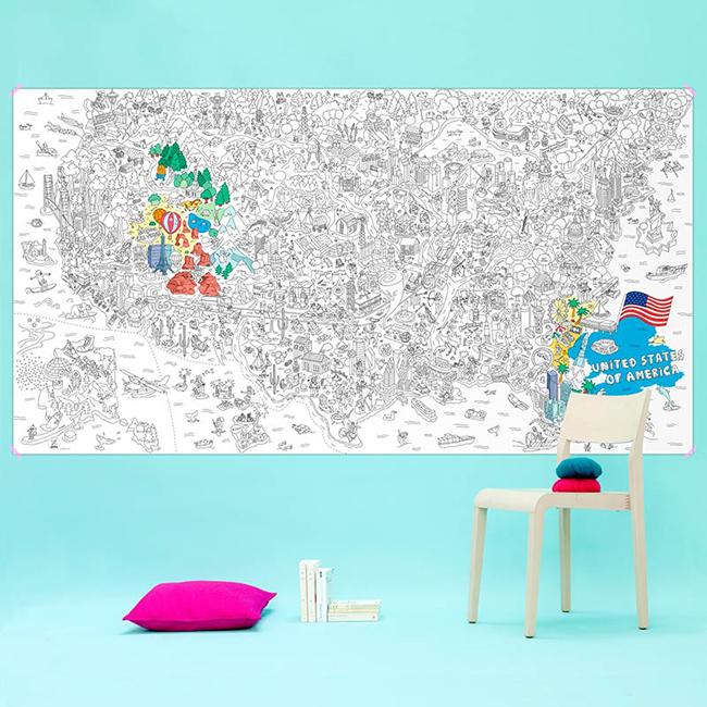 Van nagy, színezhető USA térkép is.