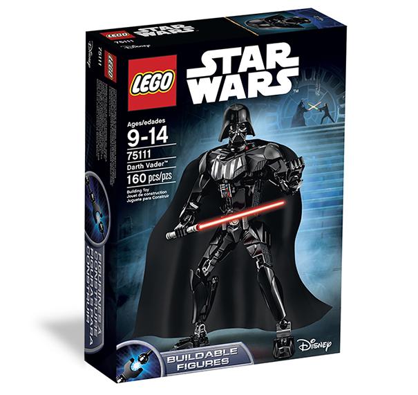A 160 elemből építhető Darth Vader figura viszont abszolút újdonság.