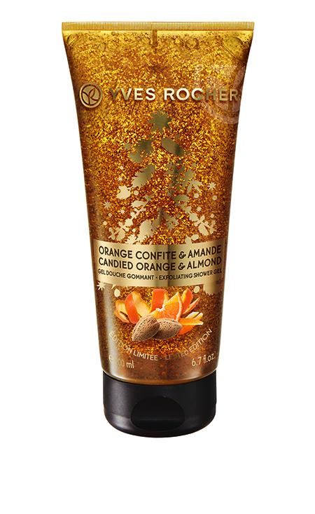 Kandírozott narancs-mandula radírozó hatású tusfürdő - Yves Rocher, 2015. karácsonyi kollekció