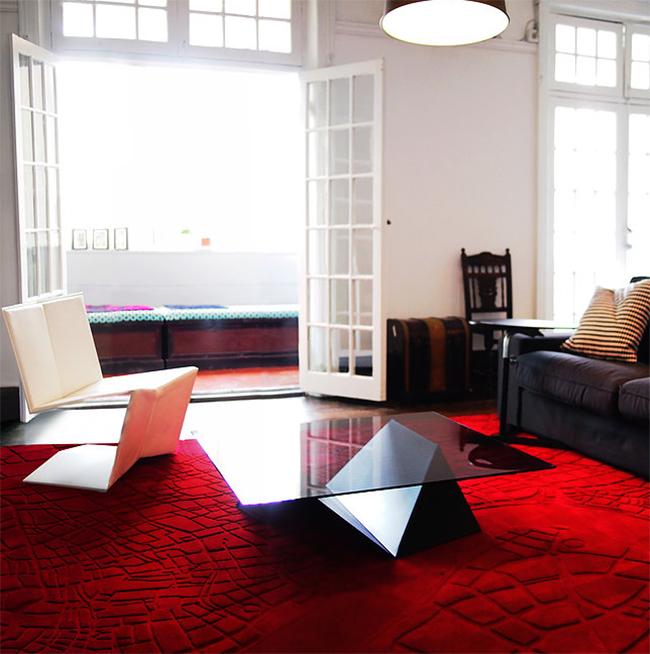 Shanghai II, gyönyörű piros - Urban Fabric