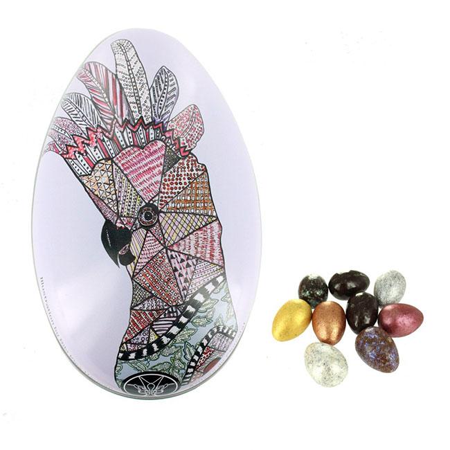 Tin Cockatoo Mini Eggs - Milk Assorted/Gyártó: Artisan du Chocolat - London