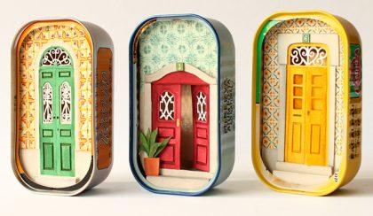 Papír, olló, festék: lenyűgöző miniatűr világok