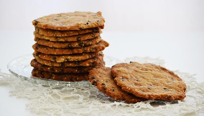 Csokis-szezámmagos keksz (Fotó: Myreille)