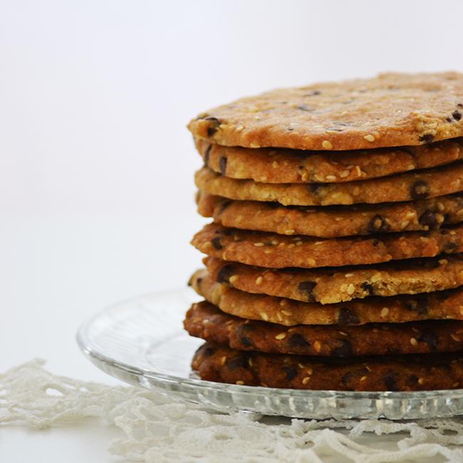 Csokis-szezámmagos cookie (Fotó: Myreille)