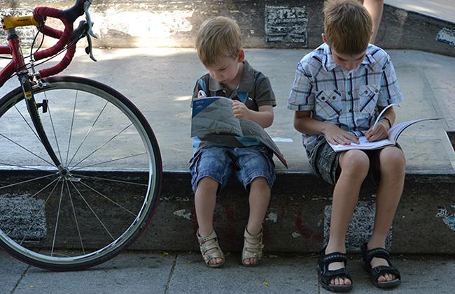 Dani és Zsombi felfedezi Budapestet, le is rajzolják! (Fotó: Myreille)