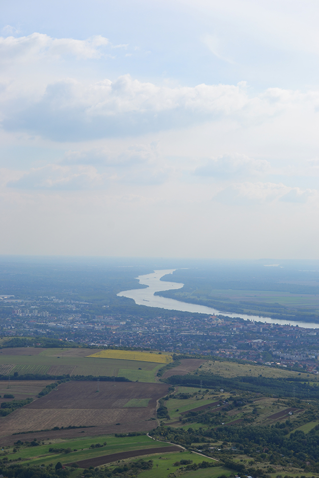 Térkép a táj, és ott is a Duna kanyarog Vácnál... (Fotó: Myreille)