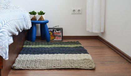 Hétvégi projekt: horgolt szőnyeg a hálószobában