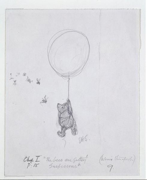 Az első kiadás 90. évfordulóján a Victoria and Albert Museum megosztott egy eredeti rajzot a Micimackóból. Jaj, mi mennyire imádjuk ezt a medvét! Fotó: VAM Muzeum Instagram - E. H. Shepard ceruzarajz © The Shepard Trust