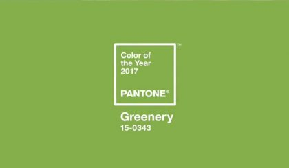 2017 színe: PANTONE 15-0343 – Greenery