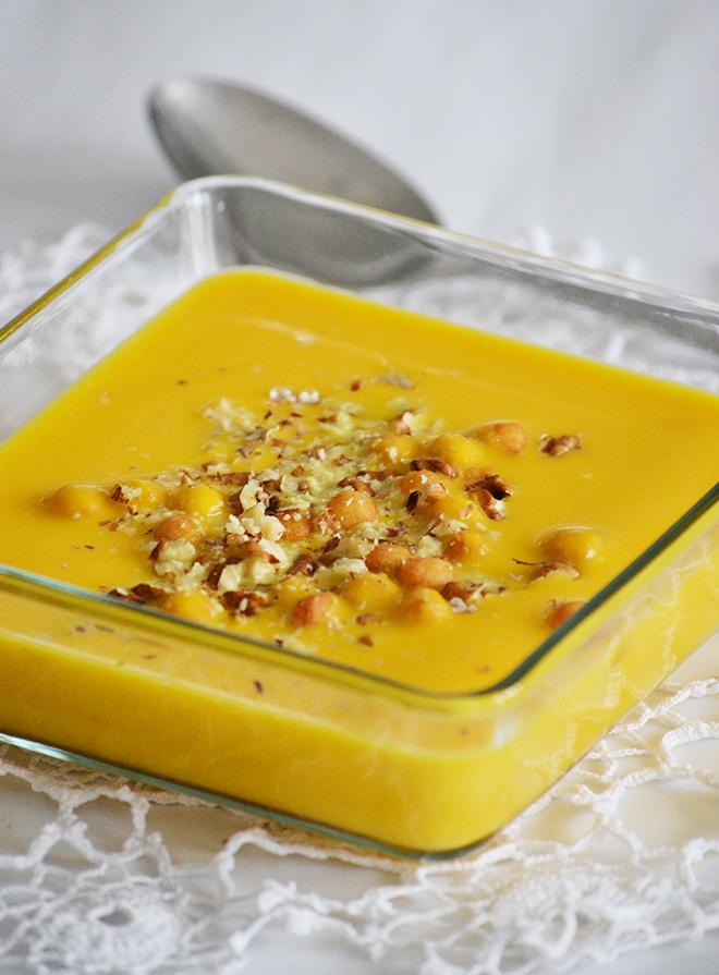 Currys-diós sütőtökkrémleves hokkaido tökből/Fotó: Myreille