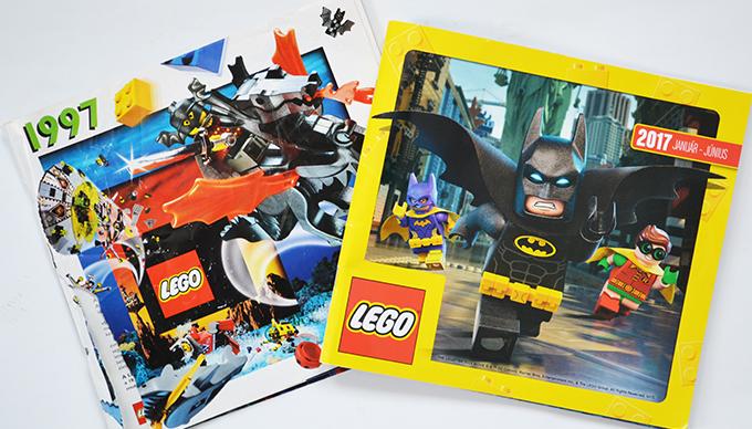 Lego katalógus 1997-ből és 2017-ből/Fotó: Myreille