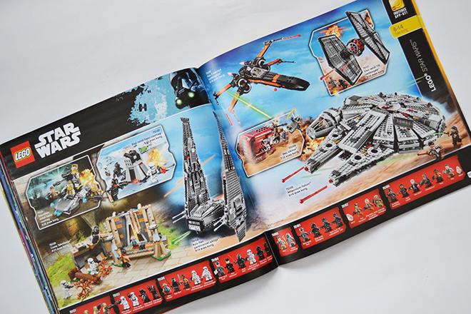 20 évvel később a gyerekek nem vágynak másra, mint Kylo Ren parancsnoki siklójára (75104) és a Millennium Falconra (75105) - Lego katalógus 2017/Fotó: Myreille